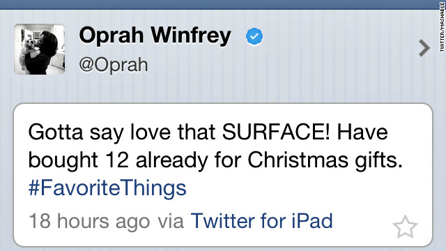 twitter oprah surface ipad